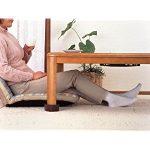 座卓・こたつの脚を延長 継ぎ足しで快適に こたつの脚を高くできる継ぎ足しグッズ 太い座卓の脚にはこれ