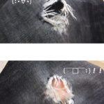 おすすめ補修布!100均ダイソーの補修布でジーンズの穴を補修してみました!ジーンズの穴 ジャージ デニム補修布 補修テープなど