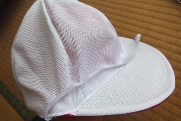 ダイソー 100円赤白帽子