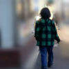 街中でたんじろう出現? 竈門炭治郎の上着 市松模様柄にそっくりなジャケットを身にまとったご婦人♪