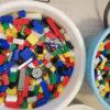 お風呂でブロック遊び ついでにブロックを洗います