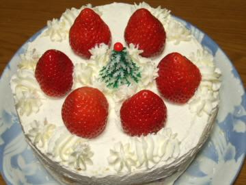 クリスマスケーキ イチゴ 飾り