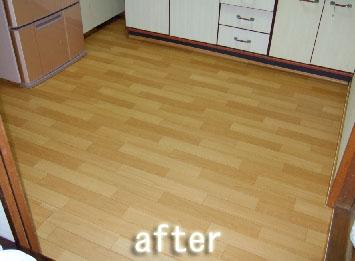 キッチンの床 DIY