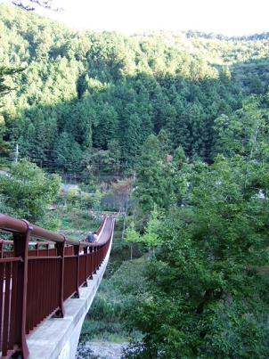 奥多摩 秋川渓谷 つり橋